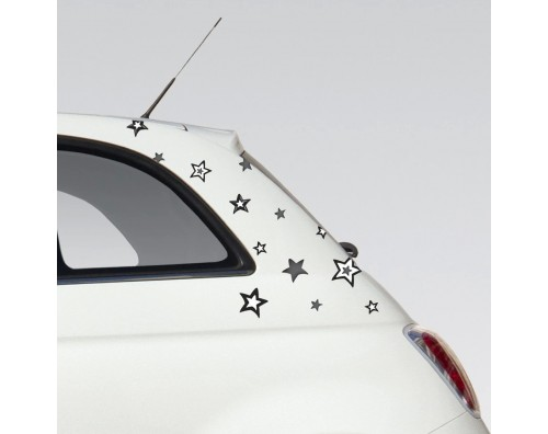 Samolepilne nalepke za steno in avto ali kolo ZVEZDE CB001