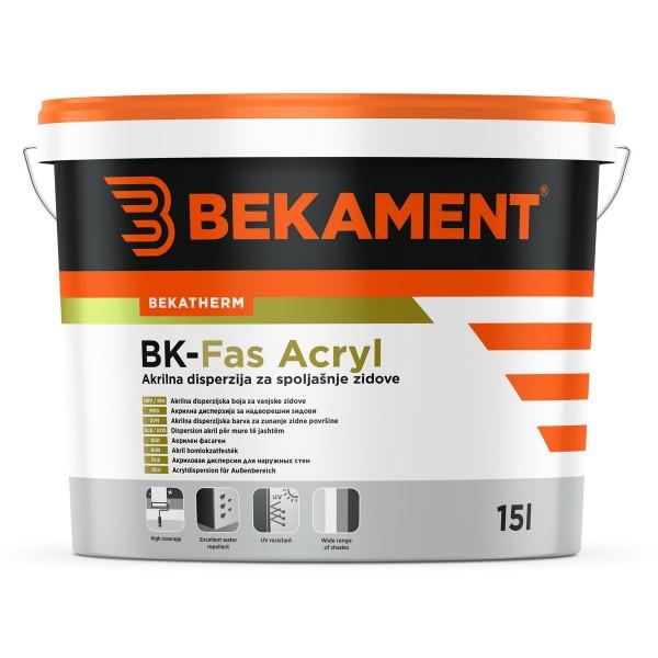 Akrilna fasadna barva BK - Fas Acryl
