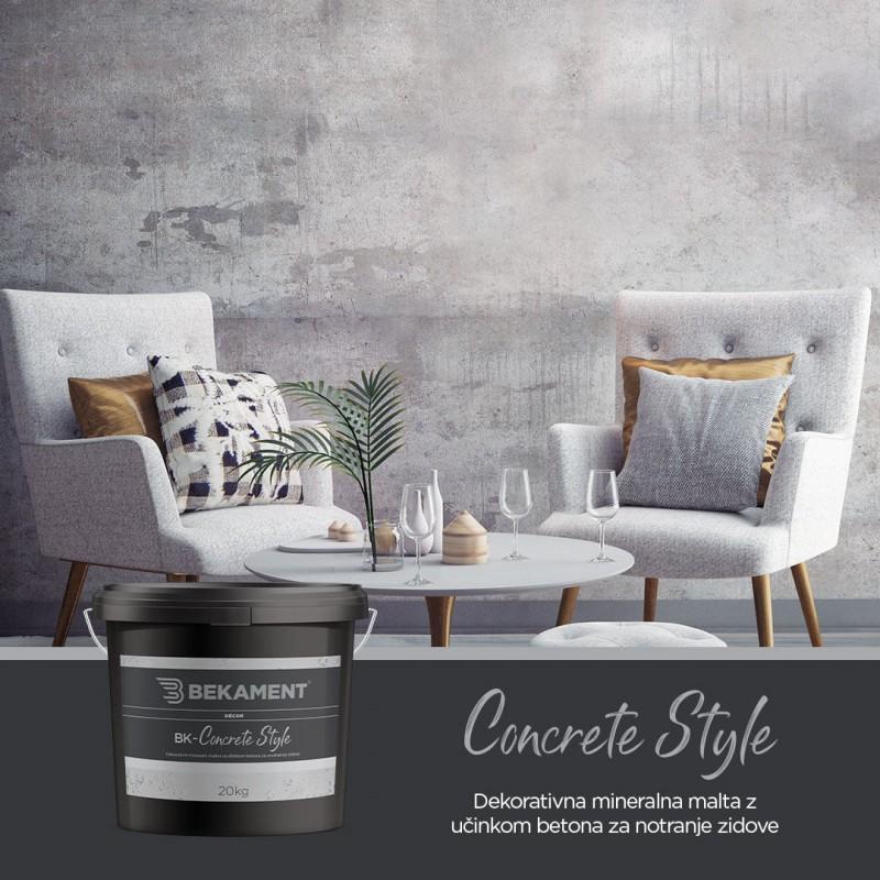 Dekorativna cementna malta BK - CONCRETE STYLE Bekament 2