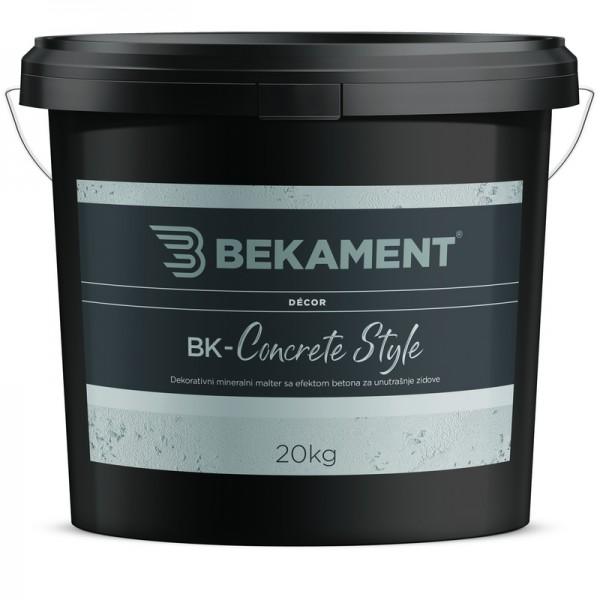 Dekorativna cementna malta BK - CONCRETE STYLE Bekament