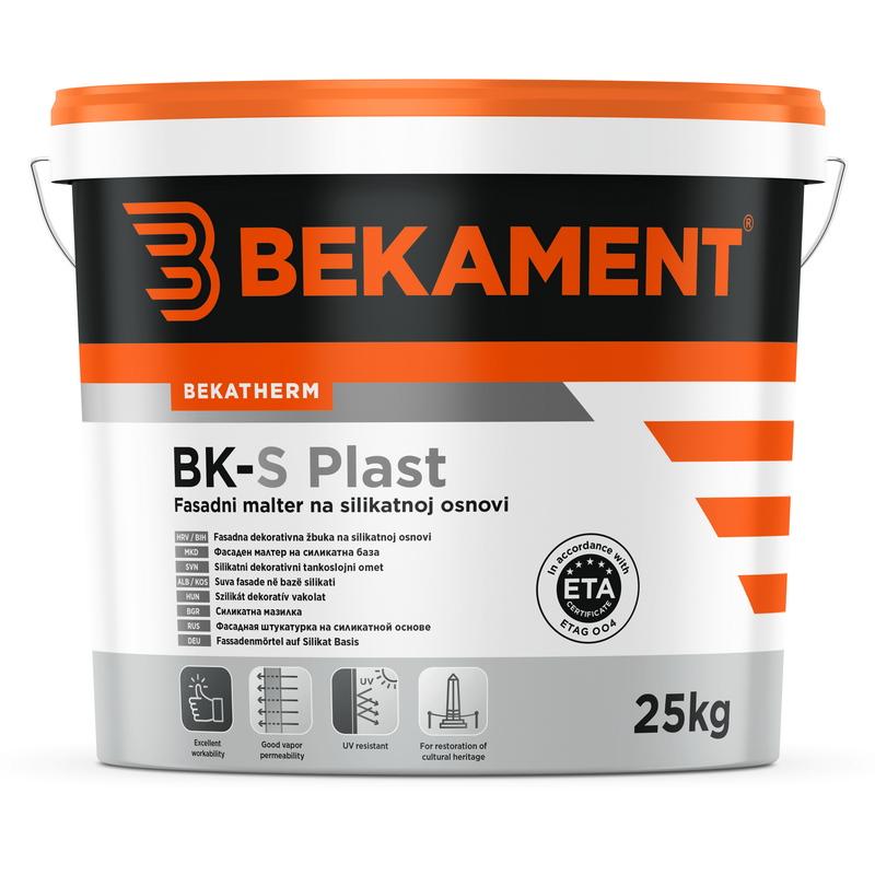 Tankoslojni silikatni fasadni omet BK - S PLAST Bekament
