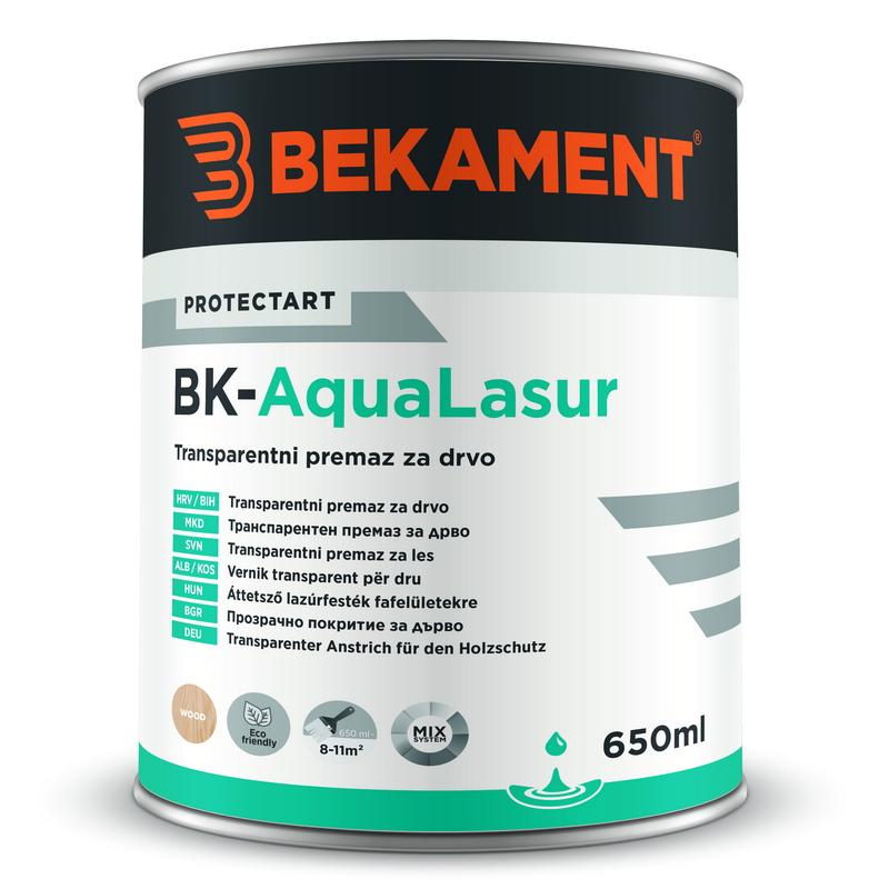 Transparentni premaz za les BK - AQUALASUR Bekament