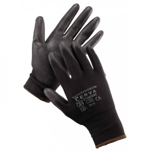 Delovne rokavice črne BUNTING EVOLUTION Červa