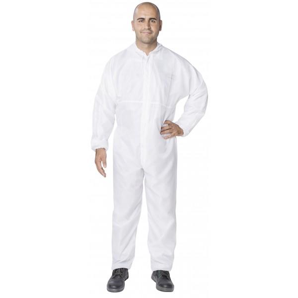Zaščitni kombinezon za lakiranje v beli barvi SATA