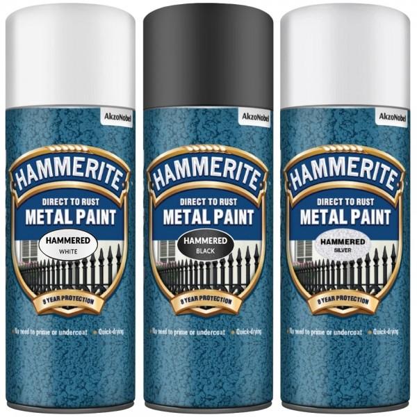 Efekt sprej za kovino HAMMERED Hammerite