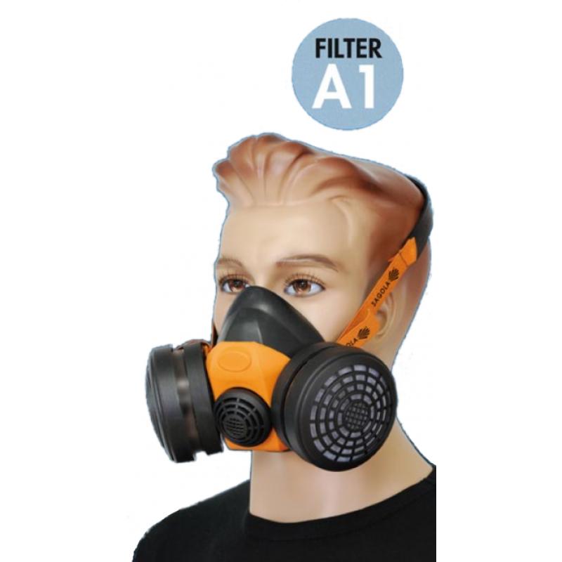 Zaščitna maska MP300 s dvojnim filtrom Sagola